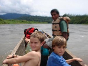 River travel in Costa Rica
